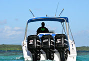 Vue derrière speed boat No Limit