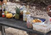 eApéritif poisson mariné et punchs aux fruits frais