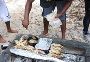 Barbecue menu poisson et langoustes