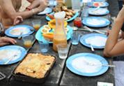 Gateau de giraumon et autres plats locaux